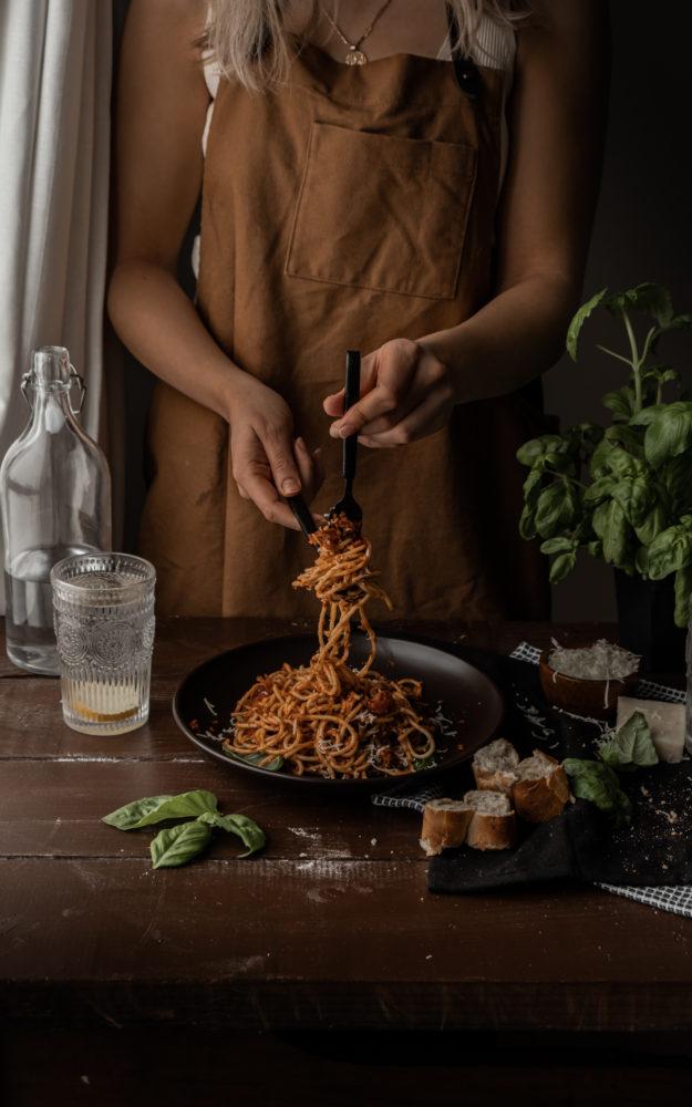 Sauce à spaghetti aux lentilles