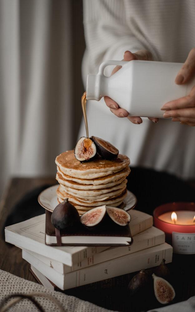 Pancakes au lait de beurre