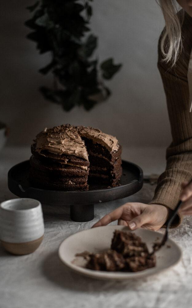 Gâteau au chocolat & espresso