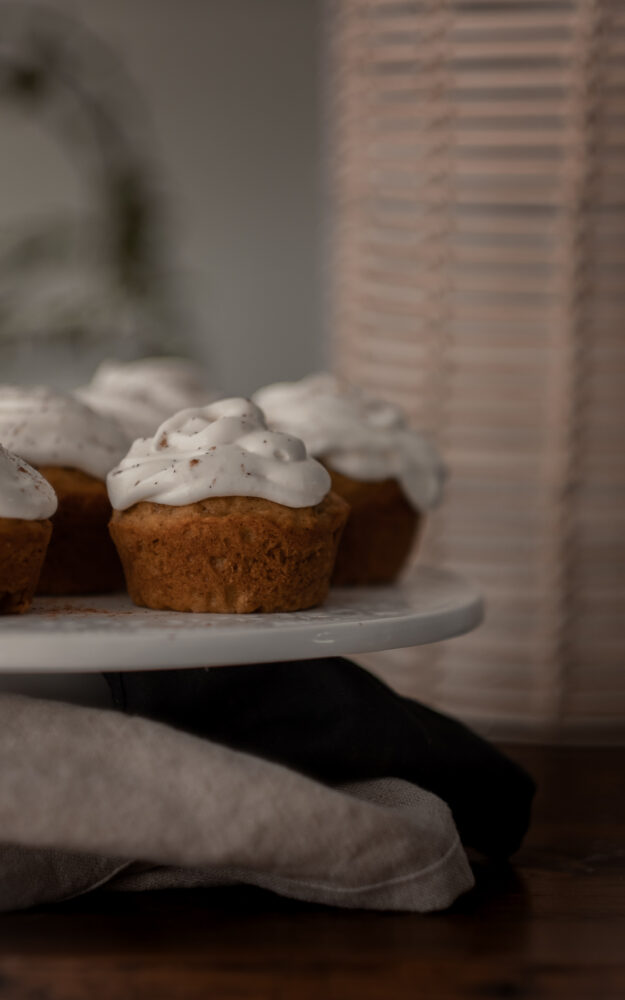 Cupcake à la citrouille & crémage au fromage à la crème