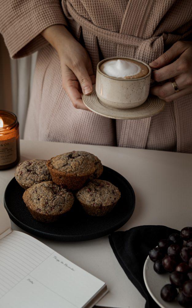 Muffins au son & framboises