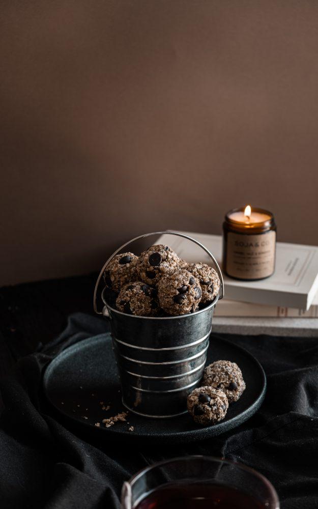 Boules d'énergie au chocolat & arachide