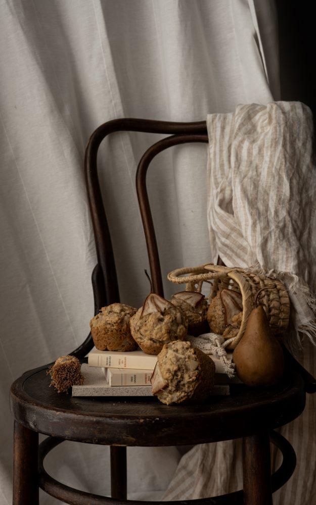 Muffins poire & caramel