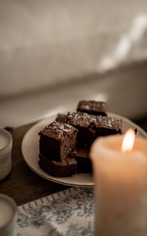 Brownie au café & fleur de sel